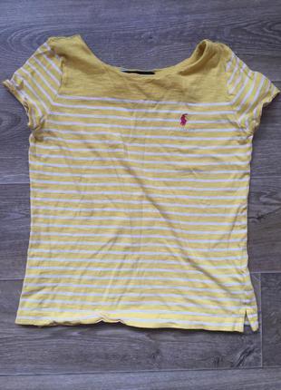 Базовая полосатая футболка от ralph lauren (l 12-14 лет)  ralph lauren