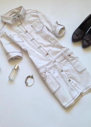 Белое джинсовое платье. смотрите мои объявления!