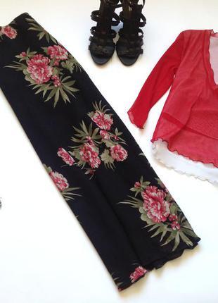 Длинная юбка макси с цветочным принтом. смотрите мои объявления!