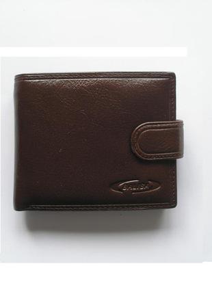 Коричневый кожаный кошелек бумажник портмоне, 100% натуральная кожа
