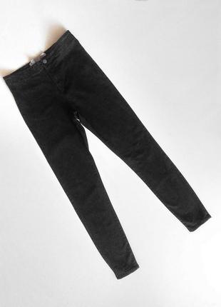Черные джинсы скинни джеггинсы на высокой посадке denim co