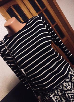 Чёрная кофта в полоску , полосатая кофта, свитшот