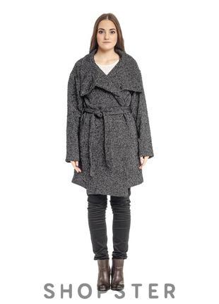 Серое демисезонное пальто от pull&bear