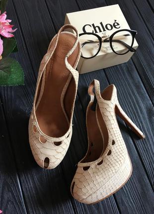 Босоножки туфли на высоком каблуке шпильке натуральная кожа замша под крокодила питона