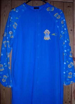 Primark пижама-слип флисовая, женская, размер m, рост 170-175 см