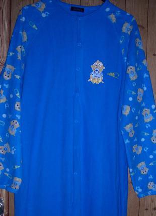 Primark пижама-слип флисовая, женская, размер l, рост 175-185 см