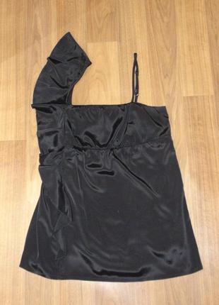 Черная свободная блуза stradivarius (м)