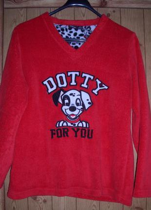 Love to lounge реглан пижамный с собакой флисовый, женский, размер s, рост до 165 см