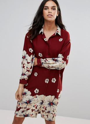Love сукня-сорочка класичного крою з квітковим принтом