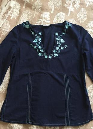 Рубашка темно-синяя tom tailor