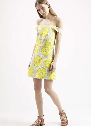 Шикарное платье с принтом от topshop (огромный выбор пиджаков)