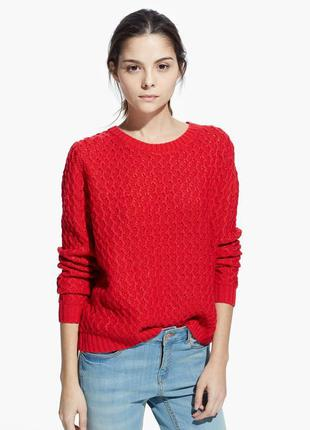 Красный свитер от zara