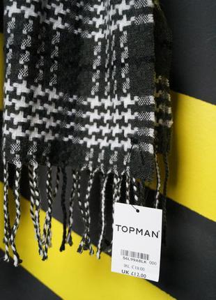 Классический шарф в узорах5 фото