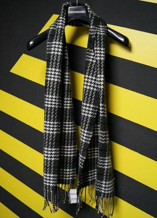 Классический шарф в узорах4 фото