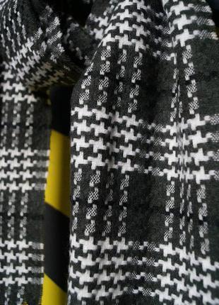 Классический шарф в узорах3 фото