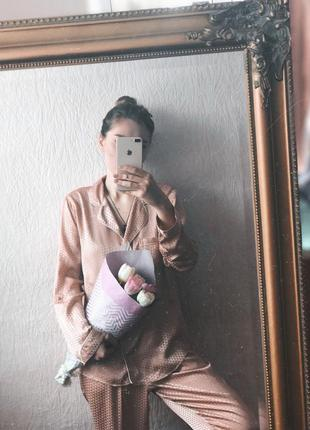 Нереально красивая и нежная пижама от river island с кружевной спинкой