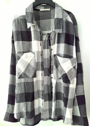 Рубашка indigo от mark&spencer большой размер