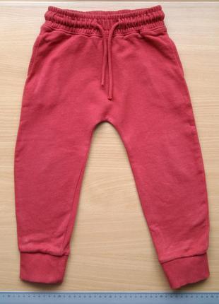 Спортивные штаны джогеры с начесом next р.2-3 года рост 98см.