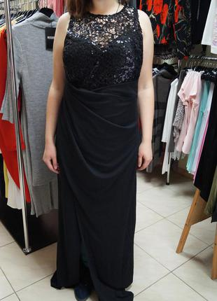 Вечернее платье в пол lipsy с шикарным декором