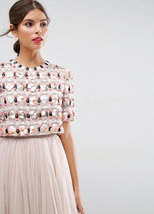 Asos розкішна декорована бісером паєтками та кабошонами сукня доставка сутки