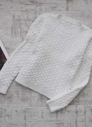 Стильный коттоновый свитер cos