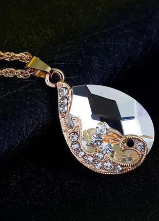 Набор украшений цепочка ожерелье, серьги и кольцо