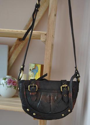 Кожаная сумка кроссбоди topshop / шкіряна сумка