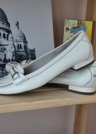 Кожаные лоферы туфли балетки footglove / шкіряні туфлі лофери