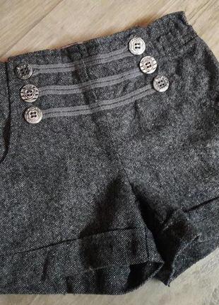 Клевые фирменные шорты шортики серебряная нить