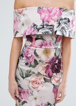 Asos квітчаста сукня-футляр лавандово-фіолетова