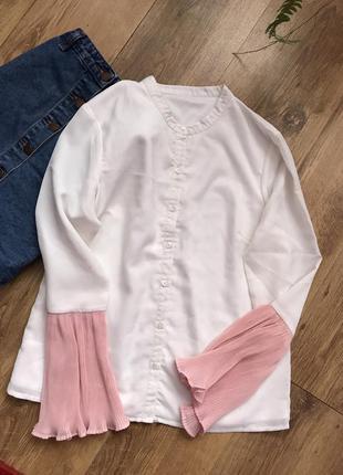 Рубашка с актуальными рукавами