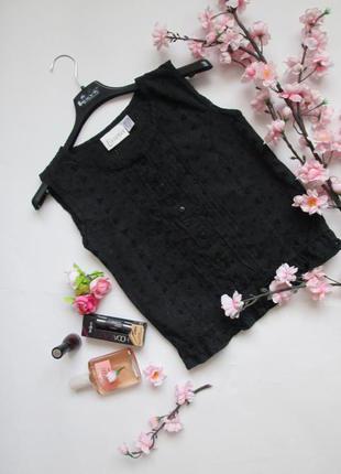 Роскошная батистовая блуза с оборкой -100% хлопок essence