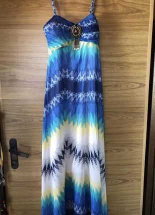Летний сарафан платье на море в пол