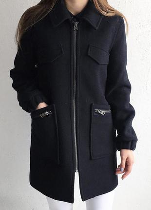 Осенне ровное пальто topshop