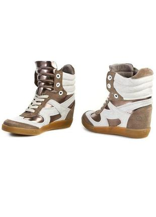 """Р.40 """"bronx"""", голландия, натуральная кожа! модные, комфортные кеды ботинки сникерсы bronx"""
