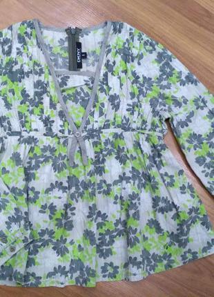 Тоненькая блузка, рубашка 100% коттон на возраст 8 лет
