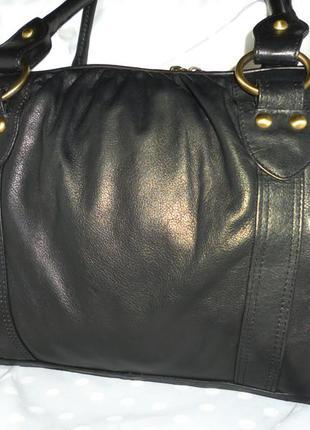 Стильная большая сумка натуральная кожа f&f
