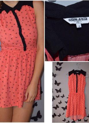 Платье с ласточками new look