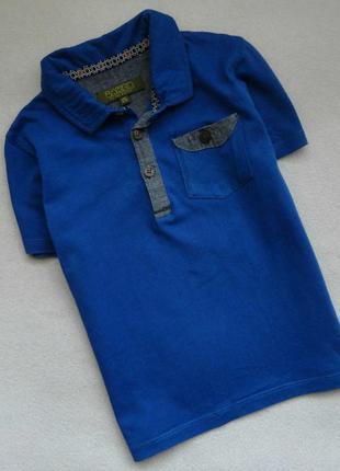 Стильная футболка-поло baker by ted baker 3-4г р.98-104 футболка