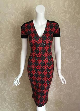 Roberto cavalli оригинал италия дизайнерское платье футляр размер it 38 (xs)
