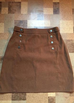 Женская горчично-коричневая юбка