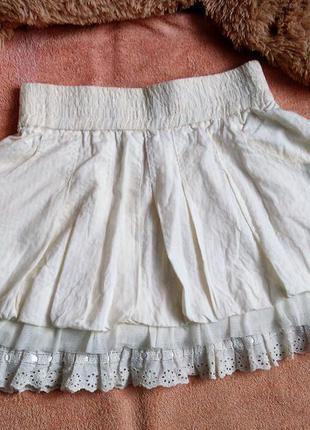 Для невысоких женщин.petiteлетняя пышная юбка мини в полоску пастельная кремовая morgan