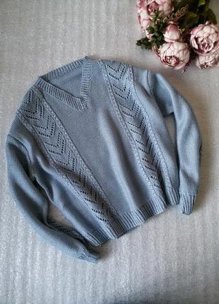 Объемный свитер оверсайз oversize с широкими рукавами