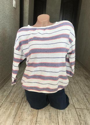 #классный хлопковый свитерок tu#кроп#свитшот#джемпер#рукав 3/4#