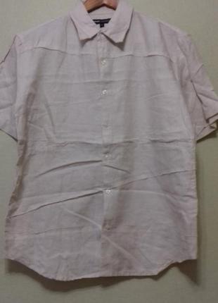 Рубаха льняная с коротким рукавом р.м