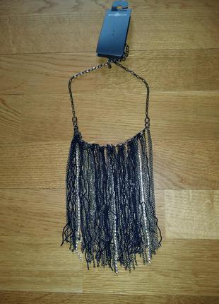 Стильное ожерелье цепочка bijou brigitte