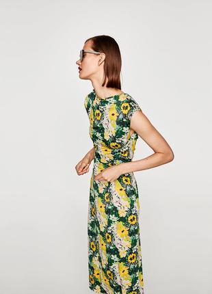 Zara платье в цветочек2