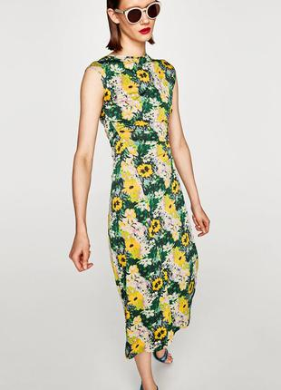 Zara платье в цветочек3