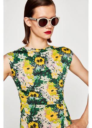 Zara платье в цветочек4