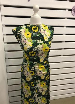 Zara платье в цветочек5
